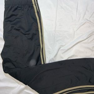 Adidas Brown 3 Stripe Polyester Athletic Pants